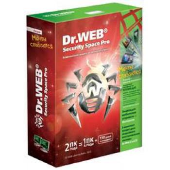 BHW-B-12M-2-A3 Dr. Web Security Space, картонная упаковка, на 12 месяцев,  на 2 ПК