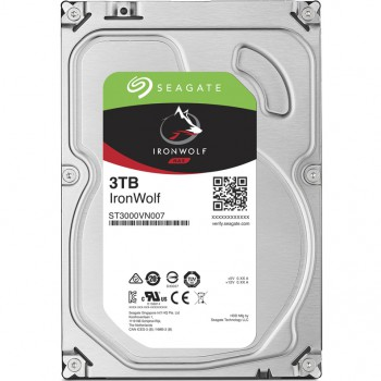 "Жесткий диск Seagate Original SATA-III 3Tb ST3000VN007 Ironwolf (5900rpm) 64Mb 3.5"""