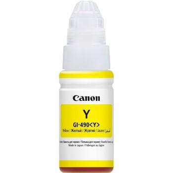 Картридж струйный Canon GI-490Y 0666C001 желтый для Canon Pixma G1400/2400/3400 (70мл)