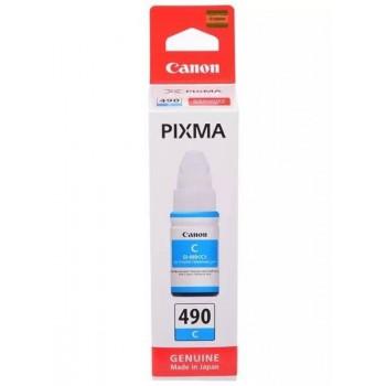 Картридж Canon GI-490 C для G1400/G2400/G3400. Голубой. 7000 страниц. <0664C001>