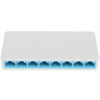 Коммутатор Mercusys MS108 8-портовый 10/100 Мбит/с настольный коммутатор, 8 портов RJ45 10/100 Мбит/