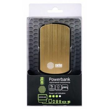 Мобильный аккумулятор Cactus CS-PBAS073-1650GD 1650mAh 1A золотой