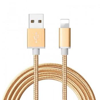 Кабель для зарядки iPhone 5/5s 1м (gold)