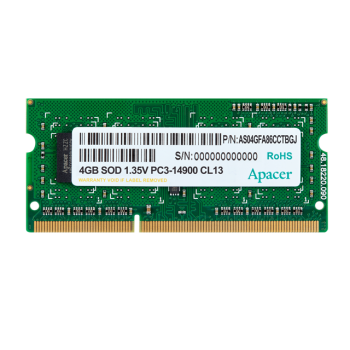 Память SO-DIMM 8GB Apacer DDR3L 1600 SO DIMM DV.08G2K.KAM Non-ECC, CL11, 1.35V, AS08GFA60CATBGJ, 512
