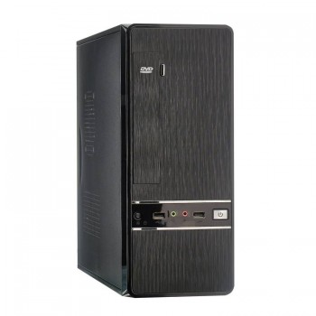 Exegate EX280452RUS Корпус Slim Minitower Exegate MS-305 Black, mATX <без БП, 80mm> 2*USB, Audio