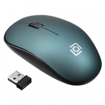 Мышь Oklick 515MW черный/зеленый оптическая (1000dpi) беспроводная USB (2but)