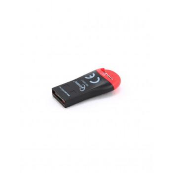 Картридер внешн.USB2.0 Gembird, для считывания MicroSD карт, блистер