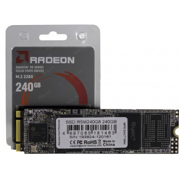SSD AMD M.2 2280 240GB AMD Radeon R5 Client SSD R5MP240G8 PCIe Gen3x4 with NVMe, 2030/1120, IOPS 200