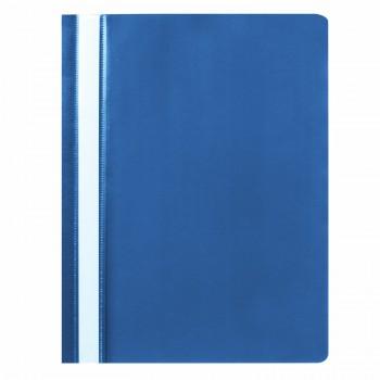 Скоросшиватель пластиковый STAFF, А4, 100/120 мкм, синий, 225730