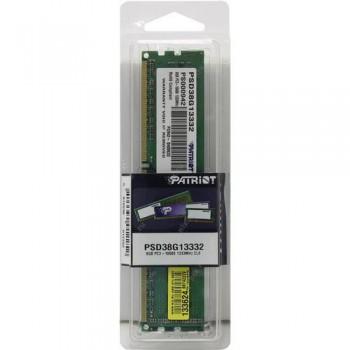 Память DDR3 Patriot 8Gb 1333MHz PSD38G13332 RTL PC3-10600 CL9 DIMM 240-pin 1.5В