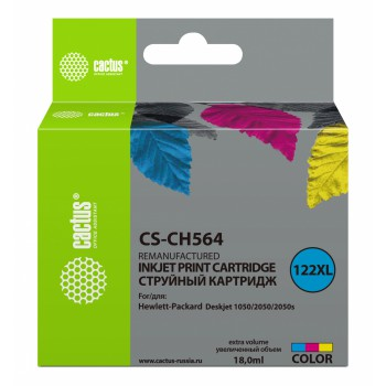 Картридж струйный Cactus CS-CH564 №122XL многоцветный для HP DJ 1050/2050/2050s (18мл)