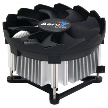 Устройство охлаждения(кулер) Aerocool BAS Soc-1150/1151/1155/ 3-pin 24-24dB Al 100W 422gr Ret