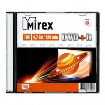 Диск DVD+R Mirex 4.7 Gb, 16x, Slim Case (1), (1/200)