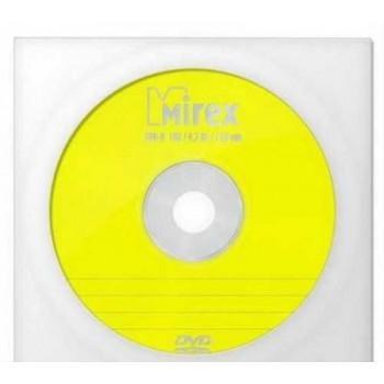 Диск DVD+R Mirex 4.7 Gb, 16x, Бум.конверт (1), (1/600)