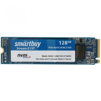 SSD M.2 Smartbuy 128Gb Stream E13T <SBSSD-128GT-PH13T-M2P4> (PCI-E x4, up to 1500/500MBs, NVMe, 3D T
