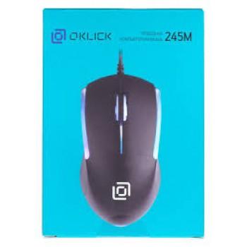 Мышь Oklick 245M черный оптическая (1000dpi) USB (3but)