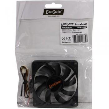 Exegate EX283373RUS Вентилятор ExeGate ExtraSilent ES08015S3P, 80x80x15 мм, подшипник скольжения, 3p