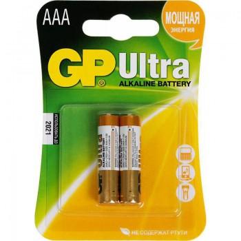 Батарея GP Ultra Alkaline 24AU LR03 AAA (2шт)