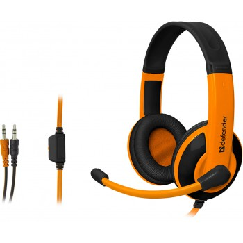 Гарнитура Defender GAMING Warhead G-120 BLACK/ORANGE (64099)