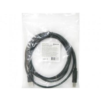 Кабель Defender USB04-06p.bag USB2.0 AM-BM, 1.8 м. черный