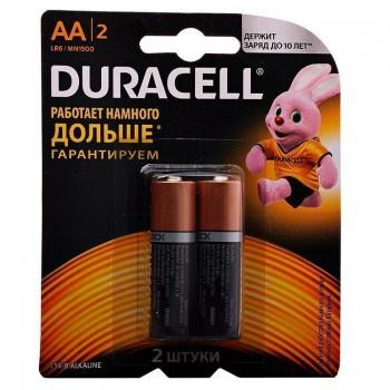 Батарейка DURACELL LR6-2BL BASIC CN (24/96/10752) (2 шт. в уп-ке)