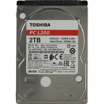 "Жесткий диск Toshiba SATA-III 2Tb HDWD220UZSVA P300 (5400rpm) 128Mb 3.5"""