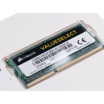 Оперативная память SODIMM Corsair Value Select [CMSO4GX3M1A1333C9] 4 ГБ