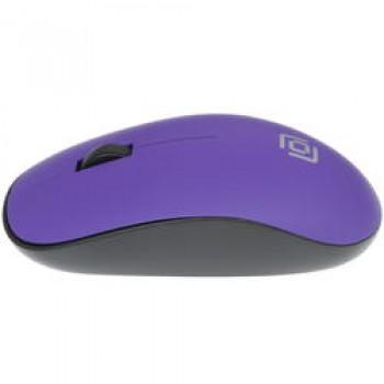 Мышь Oklick 515MW черный/пурпурный оптическая (1200dpi) беспроводная USB (3but)