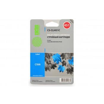 Картридж струйный Cactus CS-CLI451C голубой для Canon MG6340/5440/IP7240 (9.8мл)