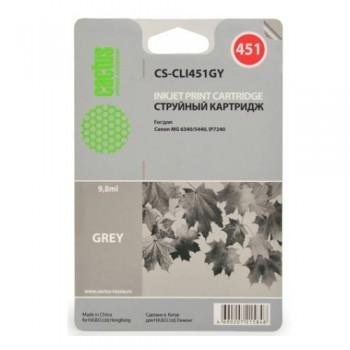 Картридж струйный Cactus CS-CLI451GY серый для Canon MG6340/5440/IP7240 (9.8мл)
