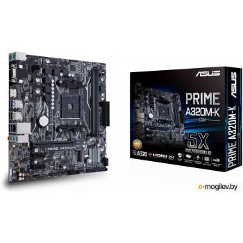 Материнская плата ASUS PRIME A320M-K, Socket AM4, A320, 2*DDR4