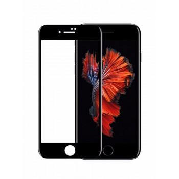 защитное стекло 3D/5D/9D/11D  на дисплей для iPhone 6, iPhone 6S, черный (без упаковки)