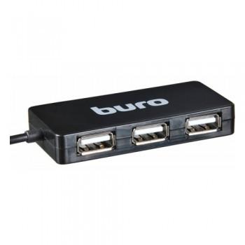 Разветвитель USB 2.0 Buro BU-HUB4-U2.0 4порт. черный