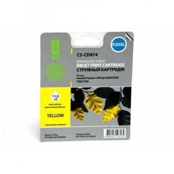 Картридж струйный Cactus CS-CD974 №920XL желтый для HP DJ 6000/6500/7000/7500 (14.6мл)