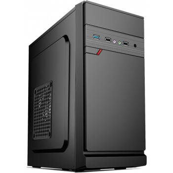 Exegate EX283056RUS Корпус Minitower ExeGate BAA-106 Black, mATX, <без БП>, 2*USB, Audio