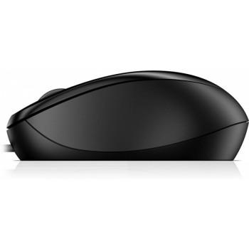 Мышь HP 1000 черный оптическая USB (3but)