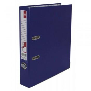 Папка-регистратор Бюрократ -BRT50PVC/PAPBLUE A4 50мм ПВХ/бумага синий