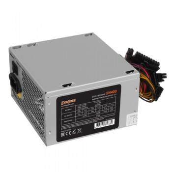 Блок питания Exegate EX244553RUS 400W Exegate UN400, ATX, 12cm fan, 24+4pin, 4*SATA, 1*FDD, 1*IDE [2