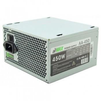 Блок питания AirMax AA-450W 450W ATX (24+4+6пин, 120mm (SCP)(OVP)(OCP)(UVP)ATX 12V