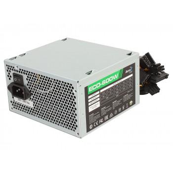 Блок питания Aerocool 600W Retail ECO-600W ATX v2.3 Haswell, fan 12cm, 400mm cable, power cord, 20+4