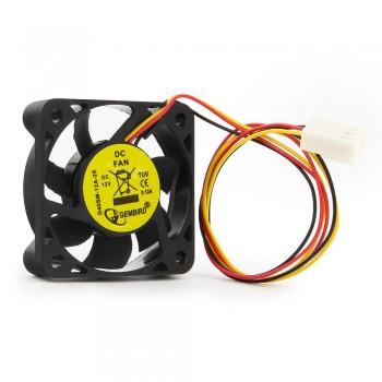 Вентилятор Gembird D40SM-12A 40x40x10, втулка, 3 pin, 7см