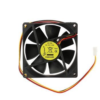 Вентилятор Gembird, 80x80x25, втулка, 3 pin, провод 30 см