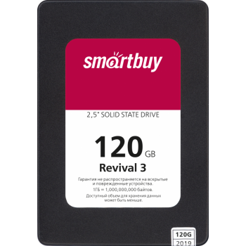 SSD жесткий диск Smartbuy  120Gb Revival 3 SB120GB-RVVL3-25SAT3 {SATA3.0, 7mm}
