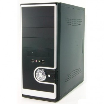 Корпус Miditower SP Winard 3029 C w/oPSU  black/silver 2*USB 2*Audio 24pin ATX