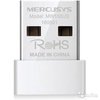 Сетевой адаптер WiFi Mercusys MW150US USB 2.0 (ант.внутр.) 1ант.