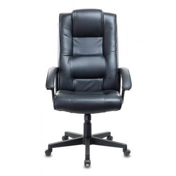 Кресло руководителя Бюрократ T-9906N/BLACK черный кожа