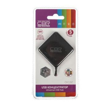 Концентратор CBR CH 132, 4 порта. USB 2.0, Поддержка Plug&Play. Длина провода 12,5+-2см