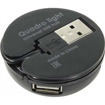 Универсальный USB разветвитель Quadro Light USB 2.0, 4 порта <83201>