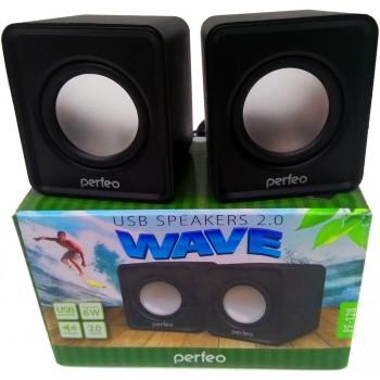 """Колонки Perfeo """"WAVE"""" 2.0 чёрный [PF-128-B]"""