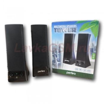 """Колонки Perfeo колонки """"Tower"""" 2.0, мощность 2х3 Вт (RMS), чёрн, USB  (PF-532)"""